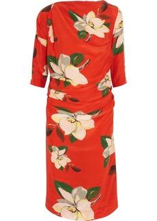 Vivienne Westwood Anglomania Shaman magnolia-print crepe de chine dress