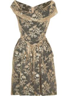 Vivienne Westwood Anglomania Thursday metallic lace dress