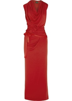 Vivienne Westwood Anglomania Wednesday draped jersey-crepe maxi dress