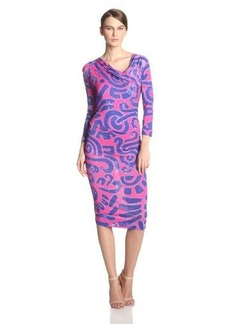 Vivienne Westwood Anglomania Women's Pax Printed Jersey 3/4 Sleeve Dress