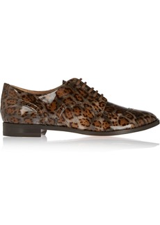 Vivienne Westwood Leopard-print patent-leather brogues