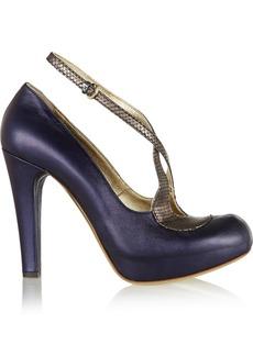 Vivienne Westwood Lido metallic leather pumps