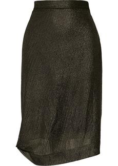 Vivienne Westwood Red Label Asymmetric metallic skirt