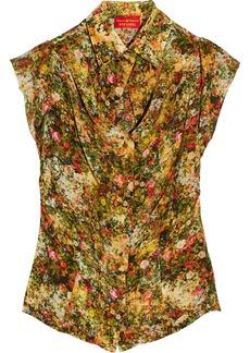 Vivienne Westwood Red Label Floral-print silk top