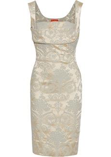 Vivienne Westwood Red Label Floral-satin jacquard corset dress