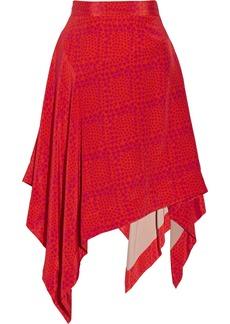 Vivienne Westwood Red Label Heart-print silk-chiffon skirt