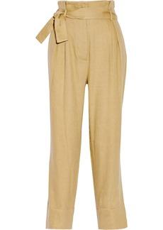 Vivienne Westwood Red Label Linen-blend high-rise straight-leg pants