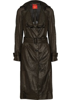 Vivienne Westwood Red Label Metallic open-knit trench coat