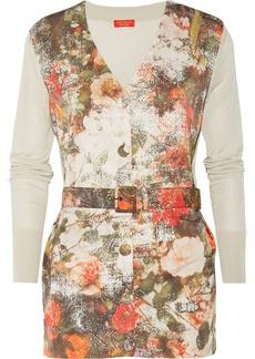 Vivienne Westwood Red Label Paneled floral-print crepe cardigan
