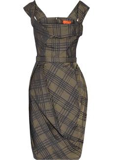 Vivienne Westwood Red Label Plaid taffeta corset dress