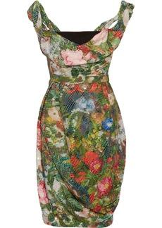 Vivienne Westwood Red Label Sequined floral-print chiffon corset dress