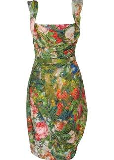 Vivienne Westwood Red Label Sequined floral-print corset dress