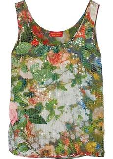 Vivienne Westwood Red Label Sequined floral-print georgette top