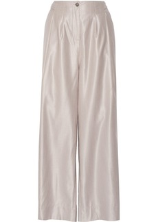 Vivienne Westwood Red Label Wool and silk-blend high-rise wide-leg pants
