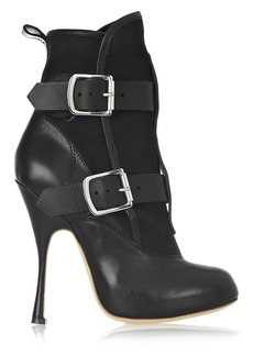 Vivienne Westwood Skyscraper Seditionary leather and canvas ankle boots