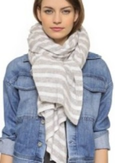 White + Warren Cashmere Striped Travel Scarf