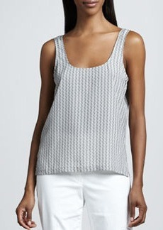 White + Warren Deco Side-Slit Tank
