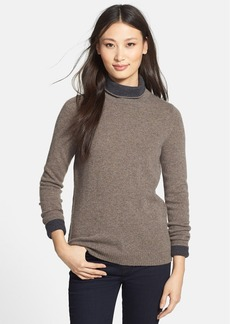 White + Warren Double Face Turtleneck Cashmere Sweater