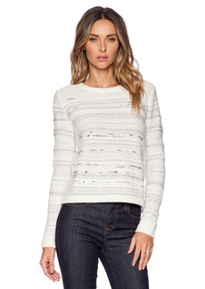 White + Warren Embellished Crew Neck Sweater