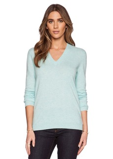 White + Warren Essential V Neck Sweater