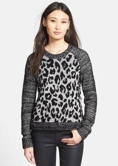 White + Warren Leopard Jacquard Sweater