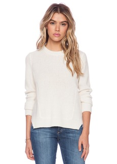 White + Warren Luce Multi Stitch Crew Neck Sweater