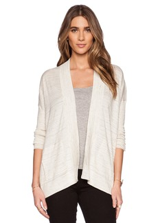 White + Warren Paneled Rib Cardigan
