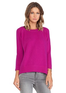 White + Warren Sweatshirt in Fuchsia