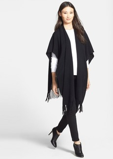 White + Warren Two-Way Fringed Cashmere Wrap