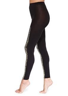 Scarlett Sequin-Stripe Leggings, Black/Gold   Scarlett Sequin-Stripe Leggings, Black/Gold
