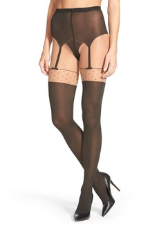 Wolford 'Daphne' Faux Garter Tights
