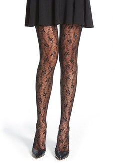 Wolford 'Lilie' Floral Chevron Tights