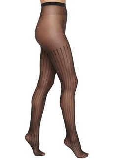 Wolford Rachel Tights with Squares, Black
