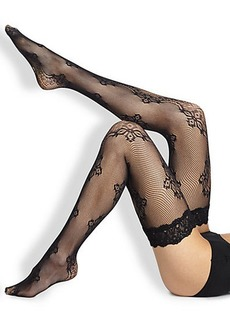 Wolford Valencienne Lace Thigh-Highs