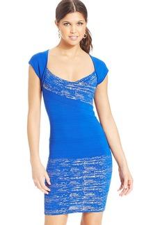 XOXO Banded Metallic Bodycon Dress