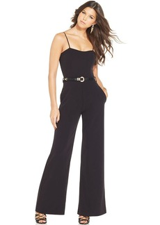 XOXO Juniors' Belted Palazzo Pants Jumpsuit