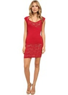 XOXO Cap Sleeve Dress w/ Foil Detail