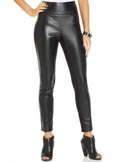 XOXO Crocodile-Embossed Faux-Leather Leggings
