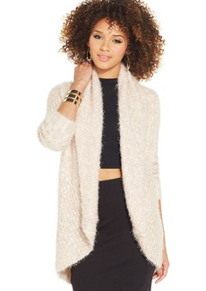 XOXO Eyelash-Knit Cocoon Cardigan