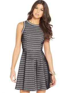 XOXO Faux-Leather A-Line Dress