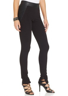 XOXO Faux-Leather-Panel Leggings