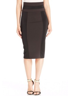 XOXO High-Waist Colorblock Pencil Skirt