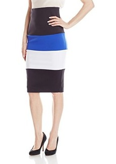 XOXO Junior's 30 Inch Color Blocked Pencil Skirt