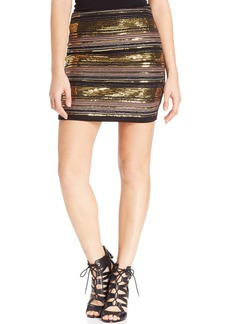XOXO Juniors' Beaded Mini Skirt