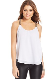 XOXO Juniors' Beaded-Strap Top