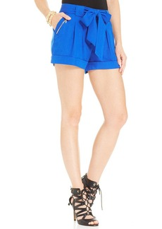 XOXO Juniors' Belted Cuffed Shorts
