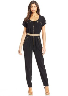 XOXO Juniors' Belted Jumpsuit