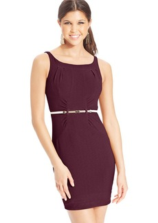 XOXO Juniors' Belted Sheath Dress