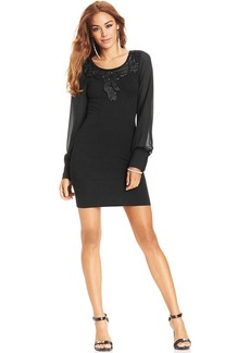 XOXO Juniors' Blouson-Sleeve Dress