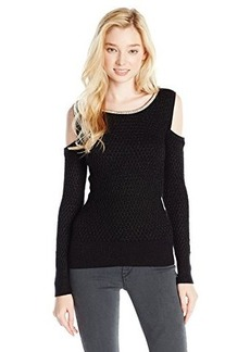 XOXO Juniors Cold Shoulder Sweater